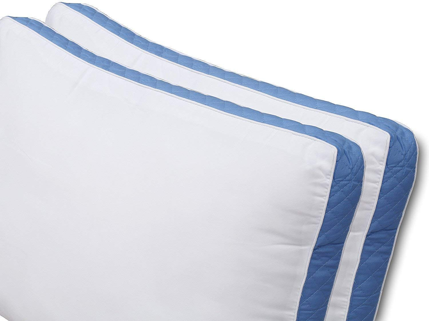 Queen, 2 Pack Hypo Allergenic and Easy Care Gusseted Quilted Bed Pillows